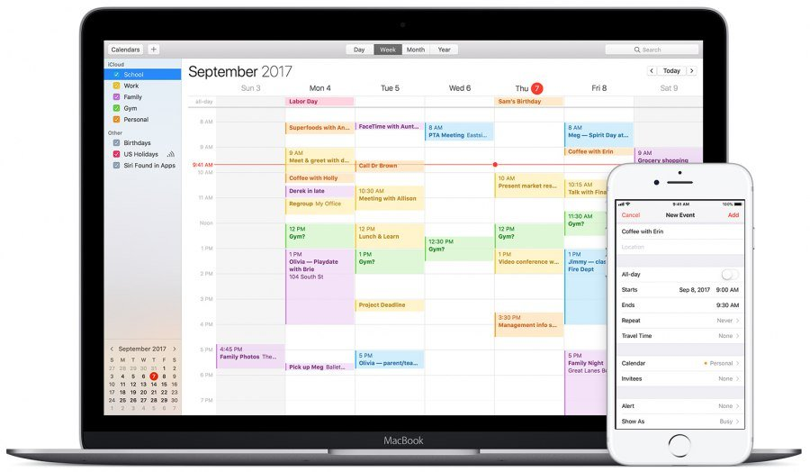 Apple Calendar Screenshot