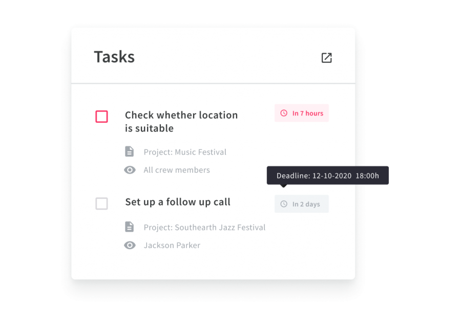 C_TS_Tasks in dashboard