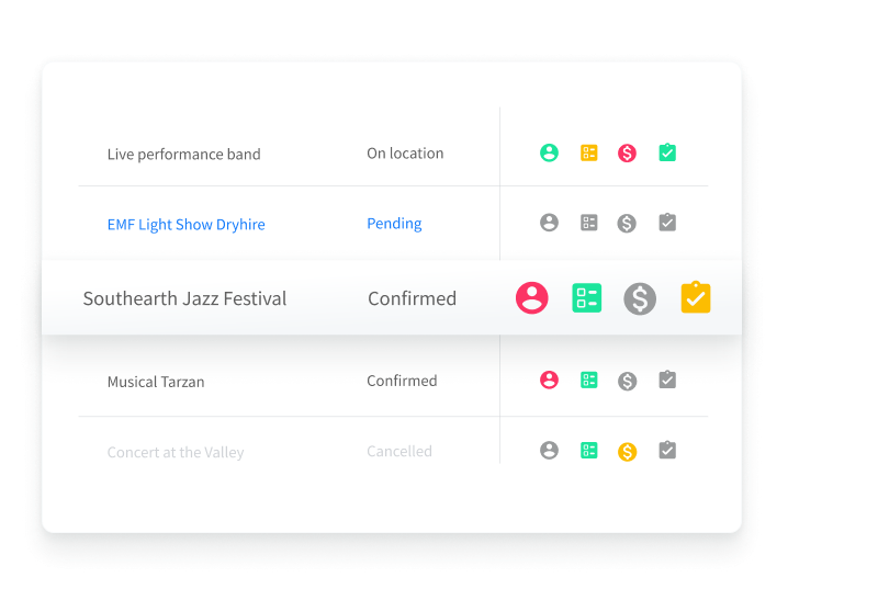 PM_Know how your project is doing - project icons status