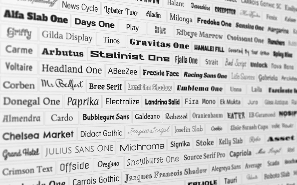 More than 900 fonts available for your documents! | We are improving