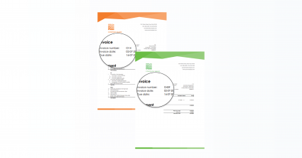 Two Rentman invoices with different number series